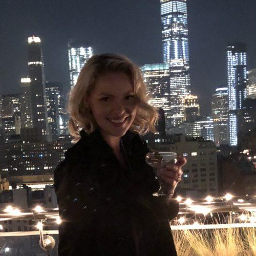 Katherine Heigl celebrating her birthday in New York City