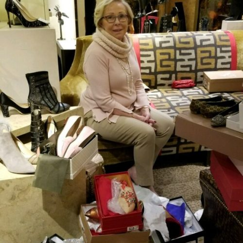 Nancy Heigl at Bergdorf Goodman
