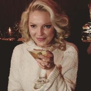 Katherine Heigl's enjoying a birthday cocktail