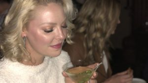 Katherine Heigl's enjoying a birthday cocktail