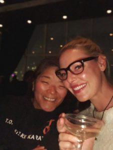 Katherine Heigl celebrating her birthday in New York with her sister Meg