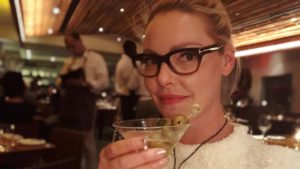 Katherine Heigl celebrating her birthday in New York