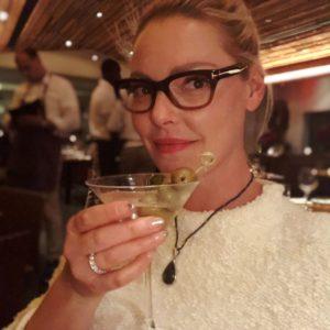 Katherine Heigl celebrating her birthday in New York