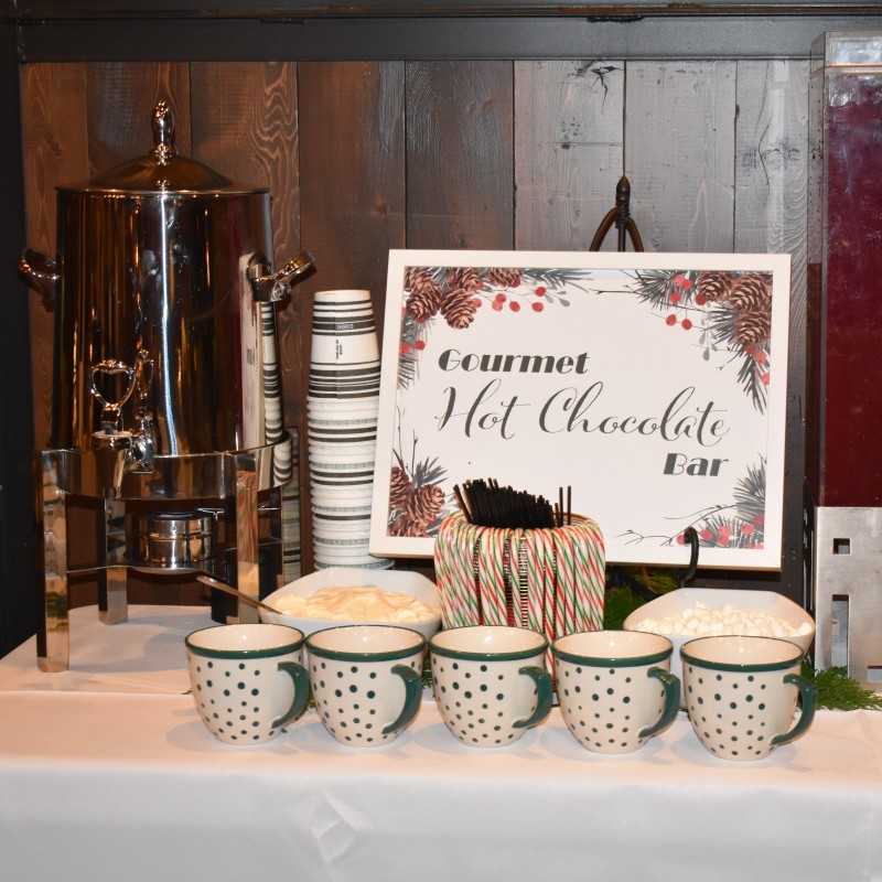 "The hot chocolate bar is a yearly tradition of the ""Night Before"" party everyone loves."
