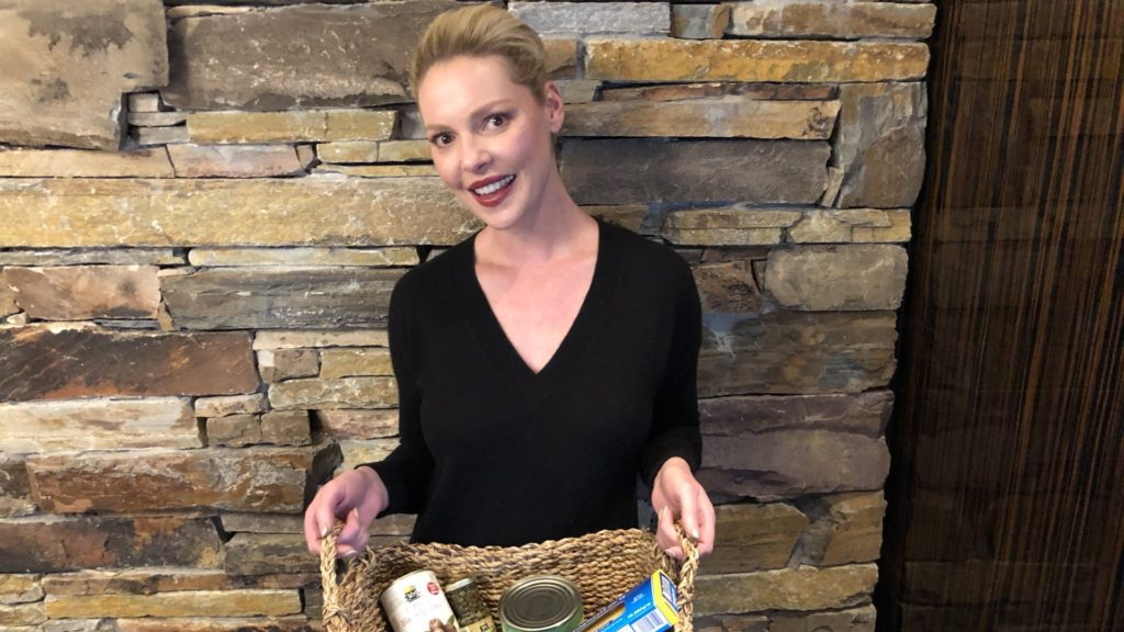 Katherine Heigl With Pantry Must Haves