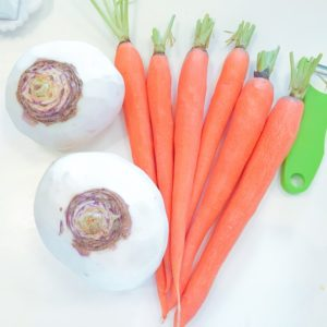 Carrots and rutabaga (swede)