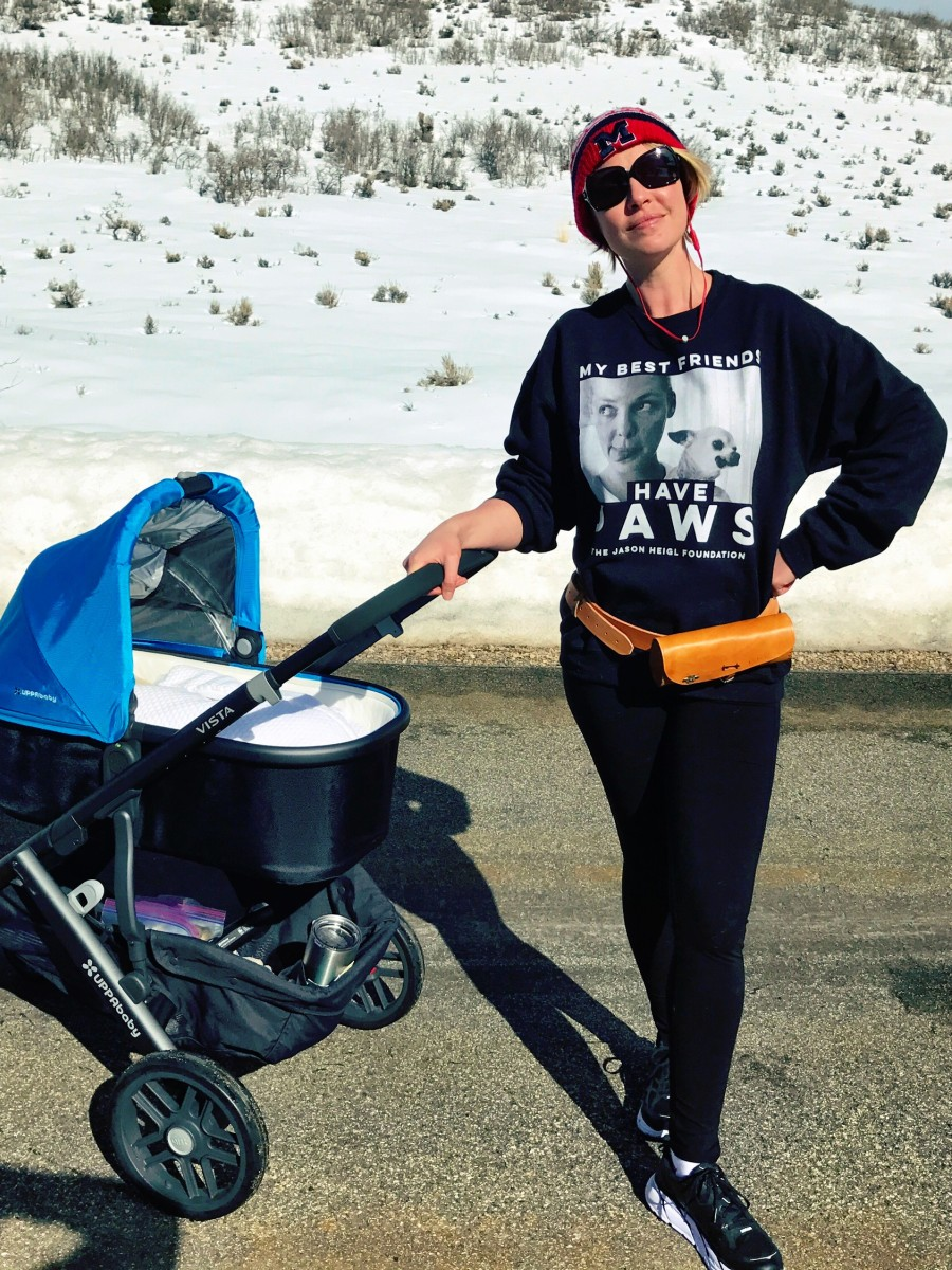 The Uppababy stroller is fantastic for shopping trips as well as mountain hikes around my home.