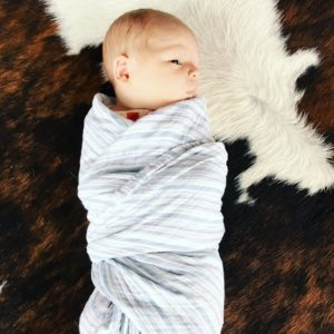 I had this baby burritoed the moment he came out of the womb. I'm a big believer in the soothing effects of a tight swaddle.