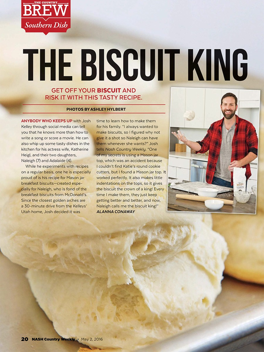 "Josh Kelley - Country Weekly ""The Biscuit King"""