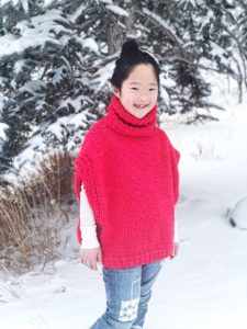 The Azel pullover turned out to not only be beautiful but a perfect fit and color for Miss Naleigh.