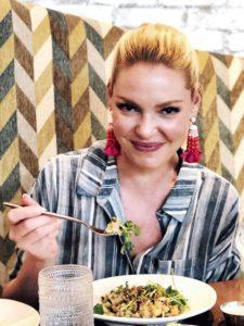 Katherine Heigl enjoying a meal at Planta Restaurant