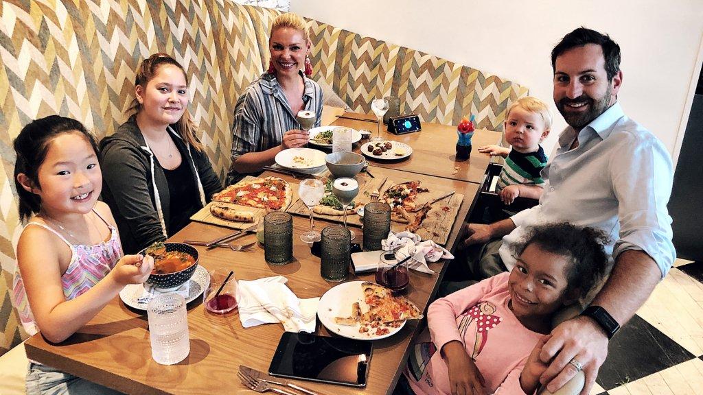 Family food time at Planta Restaurant