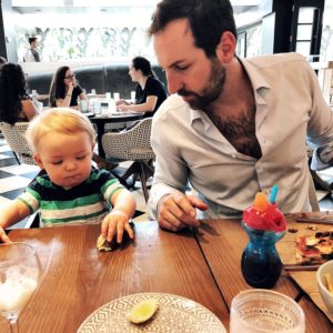 Josh Kelley and Joshua Jr. at Planta Restaurant