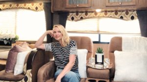 Katherine Heigl In Her Trailer For TV Show Suits