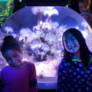 Adalaide and Naleigh at Ripley's Aquarium of Canada