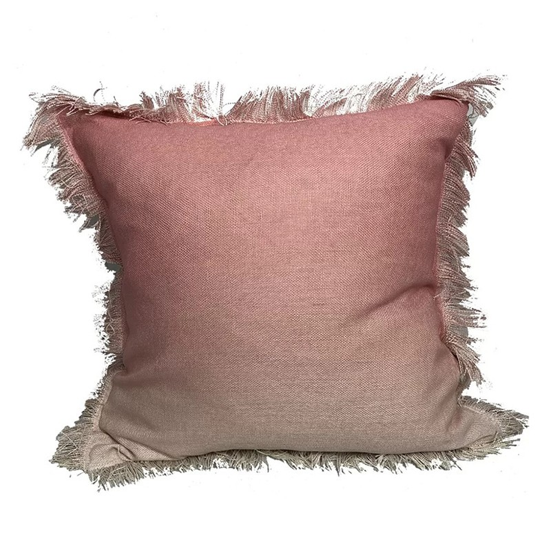 Weiler Ombre Fringe Throw Pillow