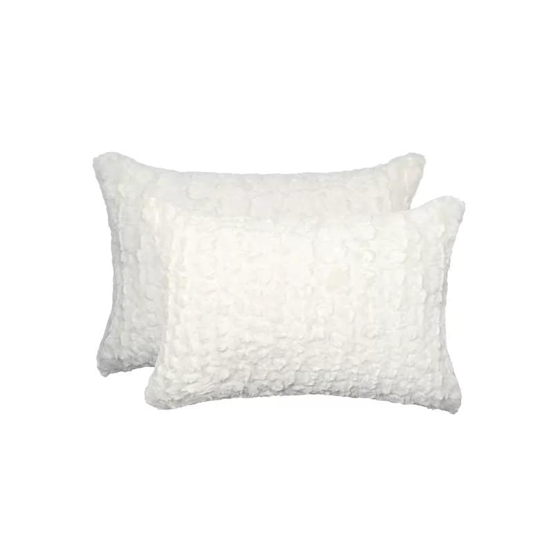 Sheba Mink Faux Fur Lumbar Pillow