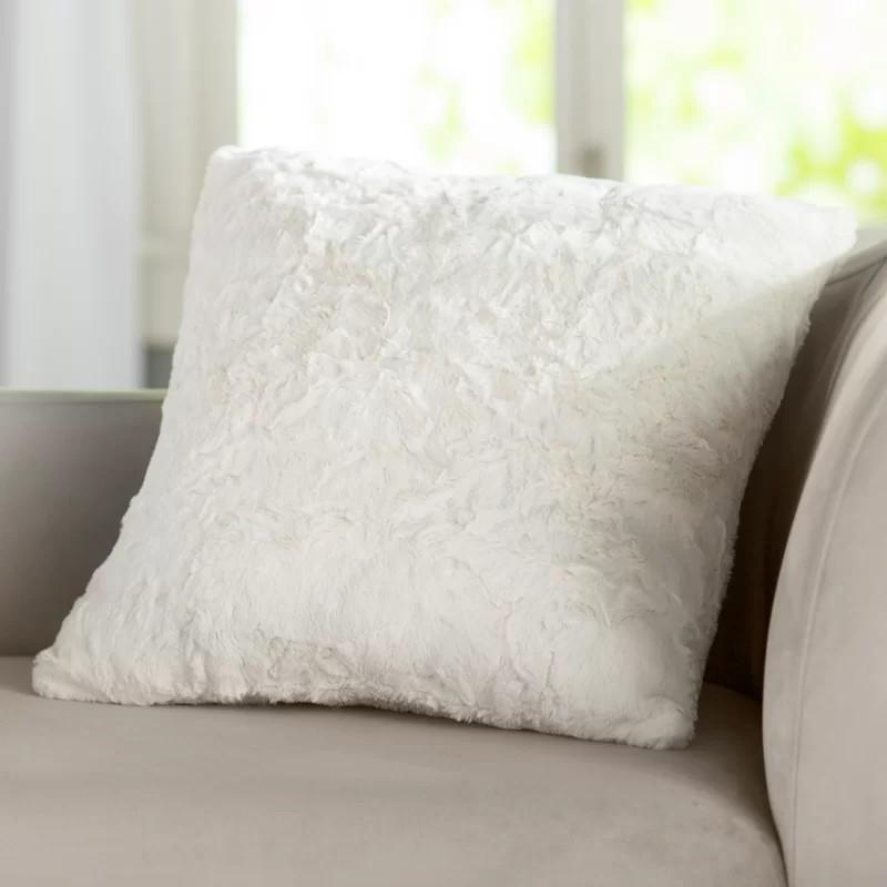 Patterson Faux Fur Throw Pillow