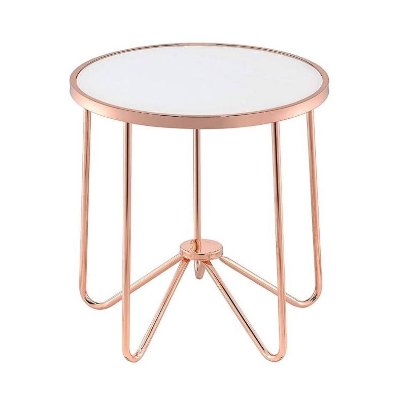 Frosted Glass & Rose Gold Table