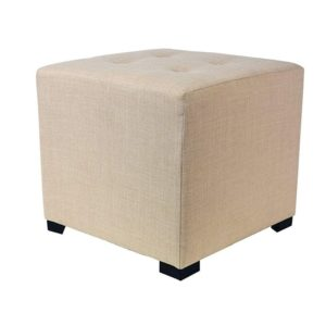 Square 4 Button Tufted Upholstered Ottoman