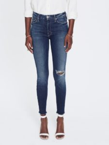 High Waisted Looker Ankle Fray Jeans