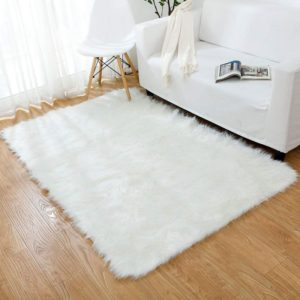 OJIA Faux Sheepskin Shaggy Area Rug