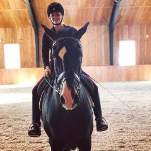 Madison riding her horse
