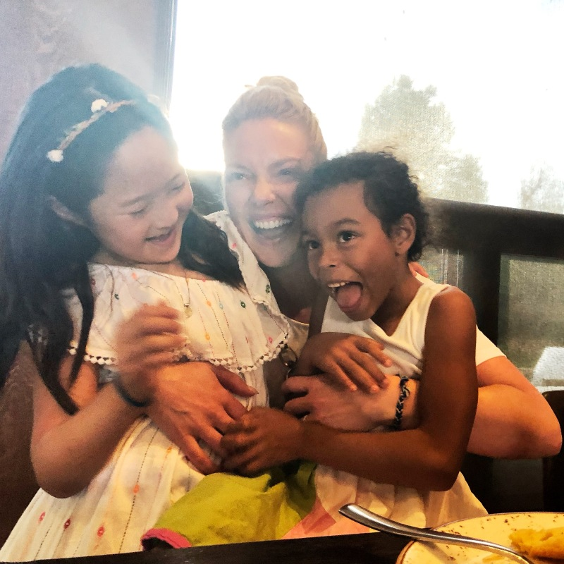 Katherine Heigl having fun with daughters Naleigh and Adalaide