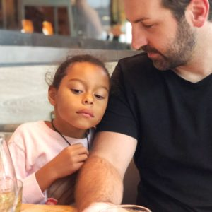 Adalaide with her father Josh Kelley