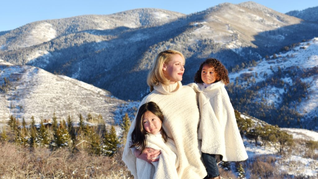 Katherine Heigl with daughters Naleigh and Adalaide