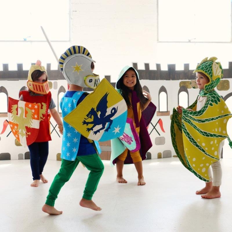 Knight & Green Dragon Costumes