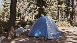 It's time to break out the tent and let the camping adventures begin. Make sure to pack a little extra plaid and some cozy blankets.