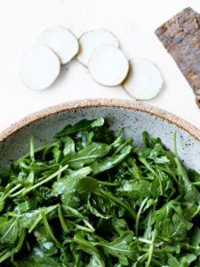 Horseradish Arugula Salad