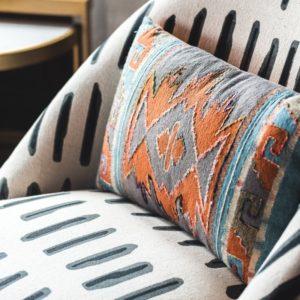 Warm Desert Embroidered Lumbar Pillow