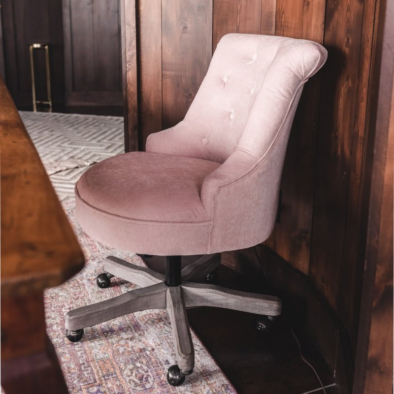 Blush Elsie Upholstered Office Chair